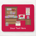 Sewing Room 2 (personalized) Mousepads