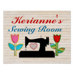 Sewing Room - House Sign Poster - SRF