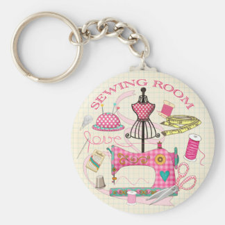 Sewing Room Key Ring