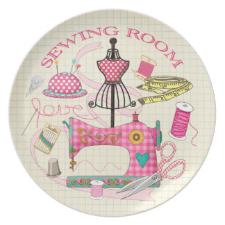 Sewing Room Plate