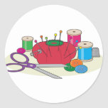 Sewing Round Stickers