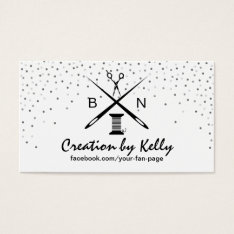 Sewing Seamstress Dressermaker Modern Confetti Business Card at Zazzle