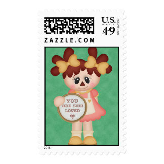 Sewing Seamstress Raggedy Doll Stamps