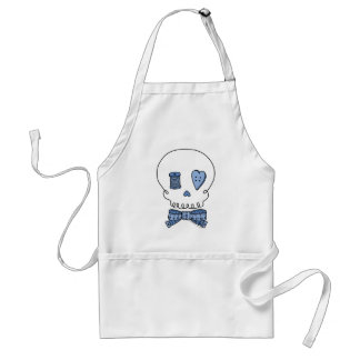 Sewing Skull (Blue) Adult Apron
