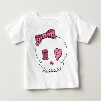 Sewing Skull (Pink) Baby T-Shirt