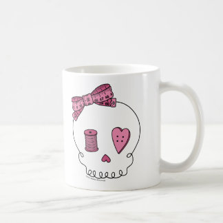 Sewing Skull (Pink) Coffee Mug