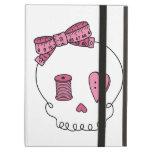 Sewing Skull (Pink) iPad Folio Case