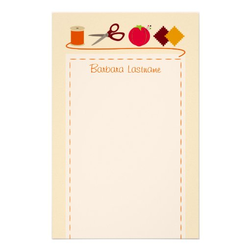 Sewing Stationery