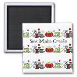 Sewing Supplies All in a Row 2 Inch Square Magnet