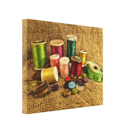 Sewing Supplies Canvas Print