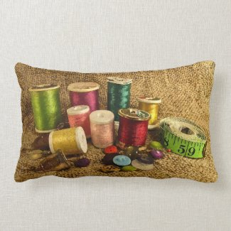 Sewing Supplies Lumbar Pillow