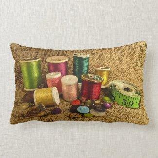 Sewing Supplies Pillow