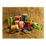 Sewing Supplies Postcard