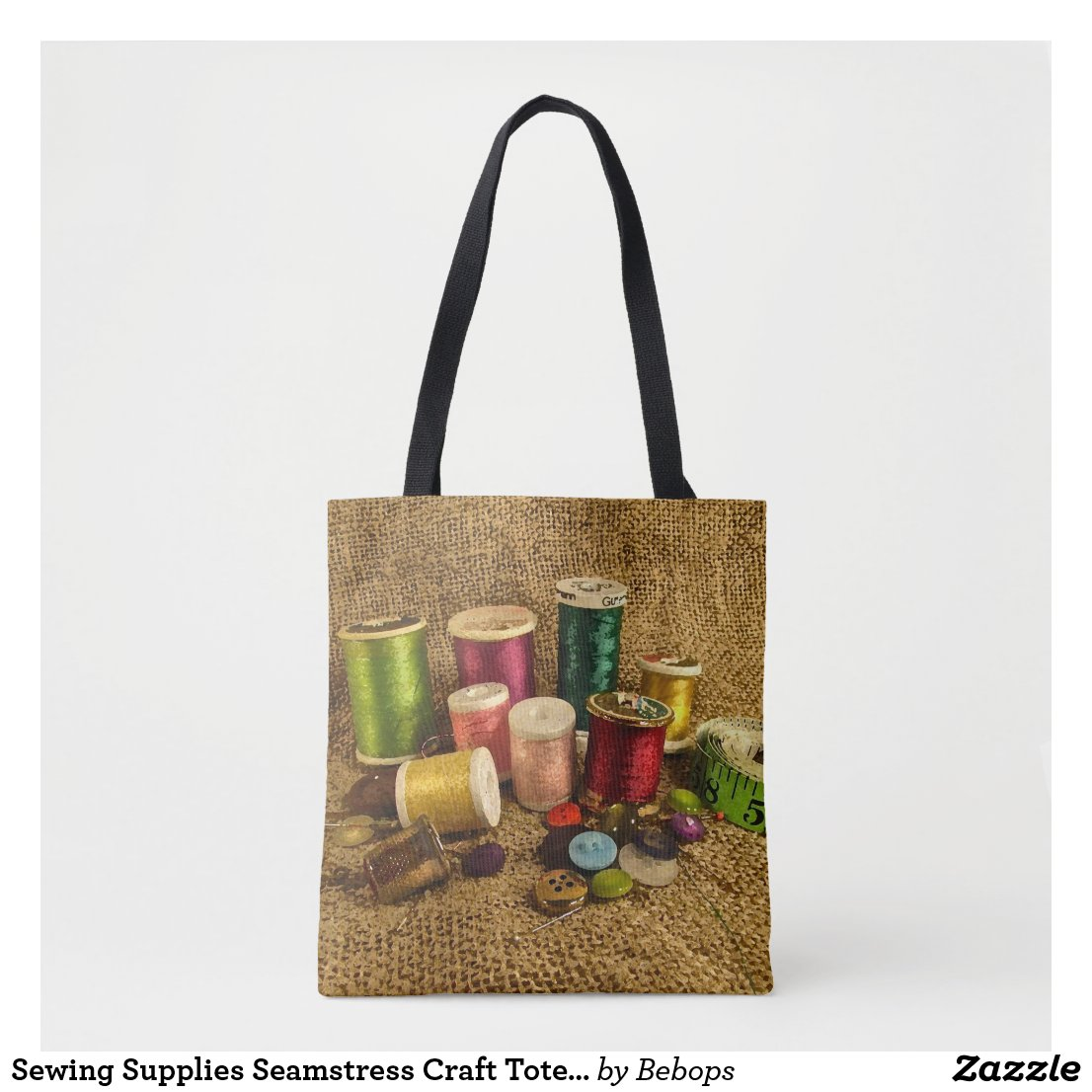 Sewing Supplies Seamstress Craft Tote Bag