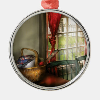 Sewing -  The sewing basket Metal Ornament