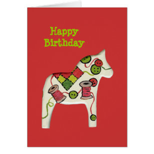 Christmas birthday cards greeting photo cards zazzle sewing theme birthday card bookmarktalkfo Images