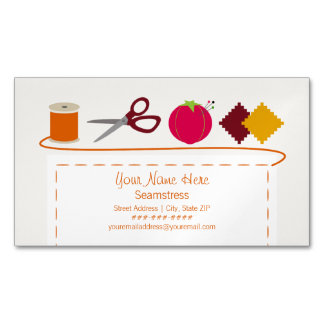 Sewing Theme Magnetic Business Card