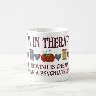 Sewing Therapy Coffee Mug