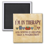 Sewing Therapy Refrigerator Magnet
