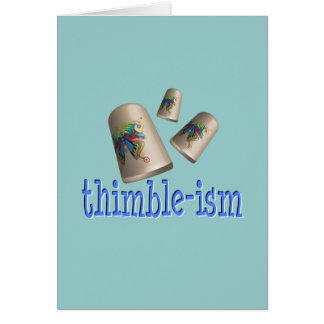 Sewing Thimble-ism Cards