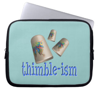 Sewing Thimble-ism Laptop Computer Sleeves