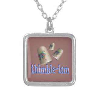 Sewing Thimble-ism Personalized Necklace