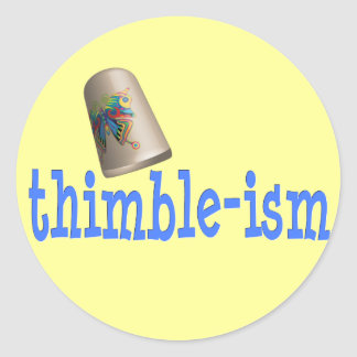 Sewing Thimble-ism Round Stickers