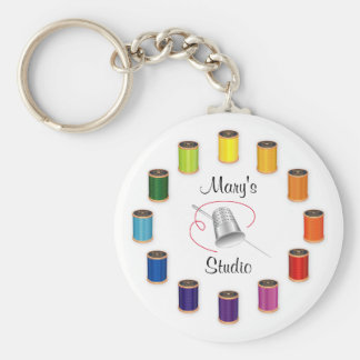 Sewing Thimble, Needle and Threads Keychain