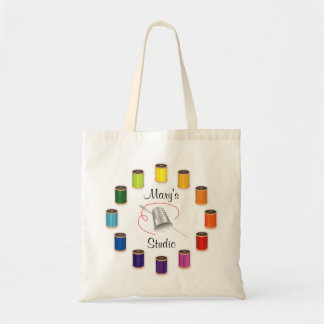 Sewing Thimble, Needle and Threads Tote Bag
