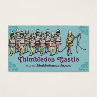 Sewing thimble needle thread army seamstress card