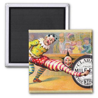 Sewing Thread Clowns Victorian Trade Card Art Magnet