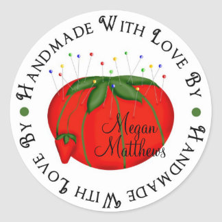 Sewing tomato pin cushion Stickers