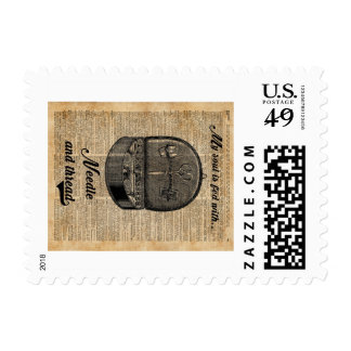 Sewing Tools Dictionary Art Postage