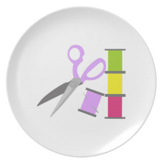 SEWING TOOLS DINNER PLATE