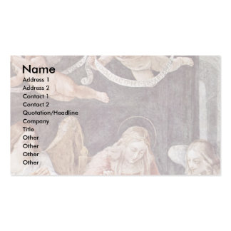 Sewing Virgin Mary And Angels By Reni Guido Business Card Templates
