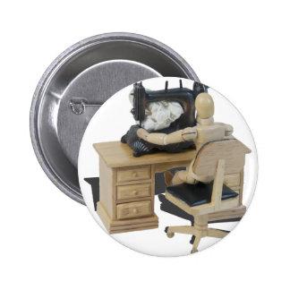 SewingUpClothing082414 copy Pinback Button
