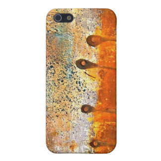 """""""Sewn"""" Abstract Rust Painting iPhone SE/5/5s Cover"""