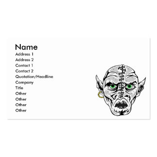 sewn up ghoul skull business card templates