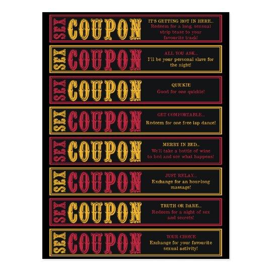 Sex Coupons Postcard