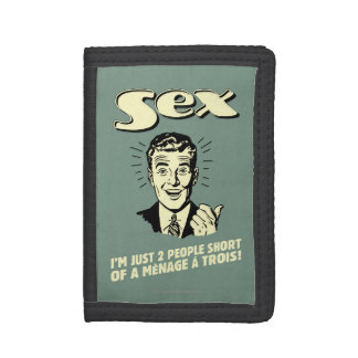 Sex: I'm Just Two People Short Trifold Wallets