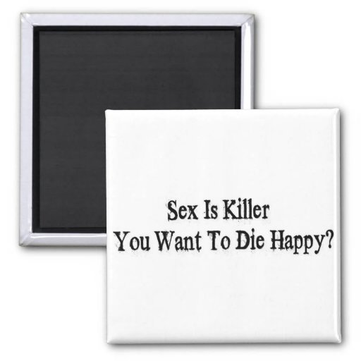 Sex Is Killer 2 Inch Square Magnet