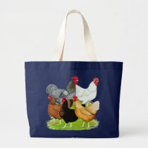 Sex-linked Chickens Quintet Large Tote Bag