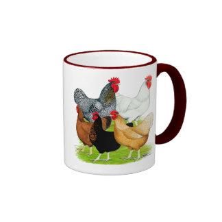Sex-linked Chickens Quintet Ringer Coffee Mug
