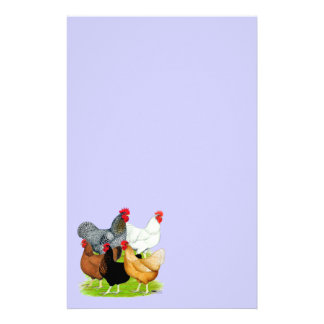 Sex-linked Chickens Quintet Stationery