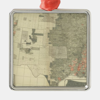 Sexes by counties metal ornament