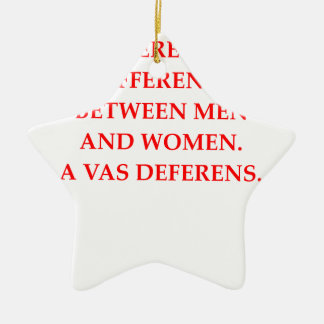SEXES Double-Sided STAR CERAMIC CHRISTMAS ORNAMENT