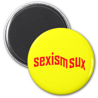 sexism sux Round Magnet