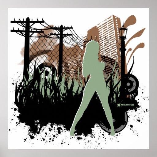Sexo en el paisaje urbano póster