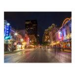 Sexta calle en la oscuridad en Austin céntrico, Postal