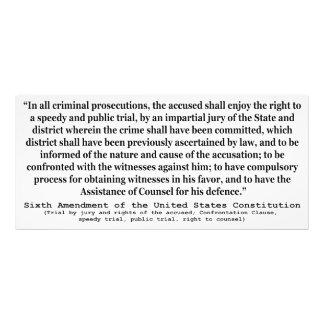 Sexta enmienda a la constitución de Estados Unidos Cojinete